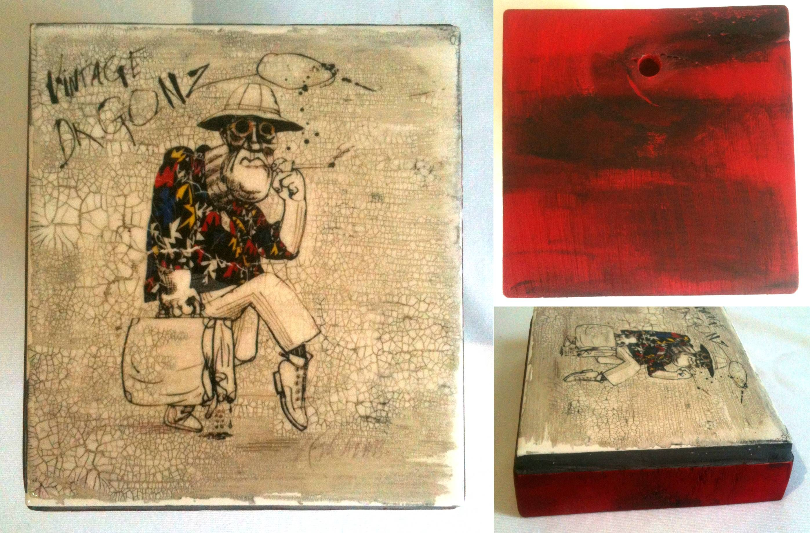 Handmade Fear and Loathing in Las Vegas, Home Decorative wall tile ...