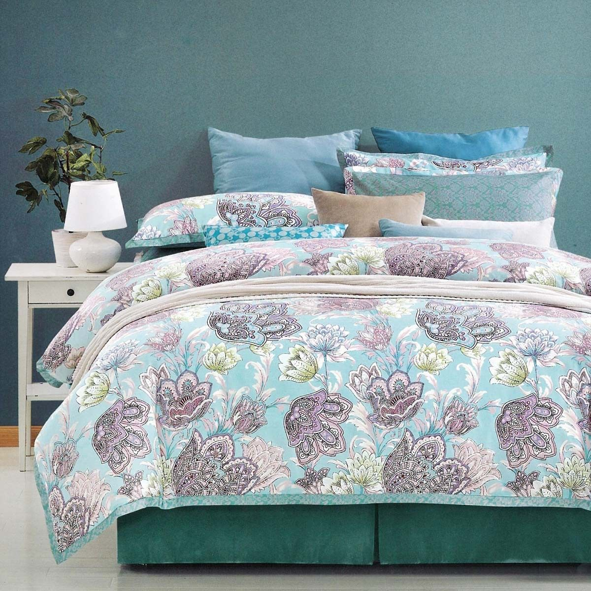 Prachtige slaapkamer in de kleur Blauw! #slaapkamer #slapen #bedroom #inrichting