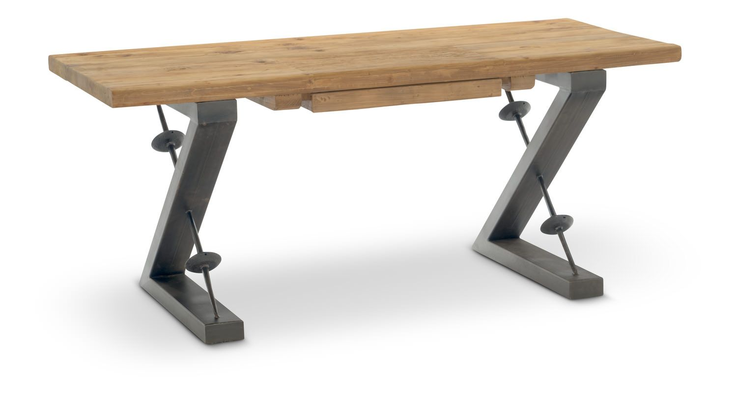 Zoey Industrial Desk Industrial Desk Hom Furniture Industrial