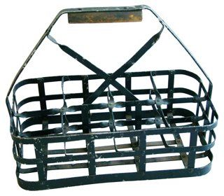 Antique French Eight-Bottle   Carrier