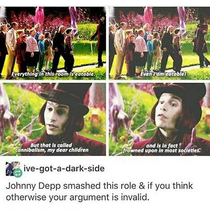 I didn't like this version of willy wonka but that line was funny<<<This movie was awesome, you noodle.