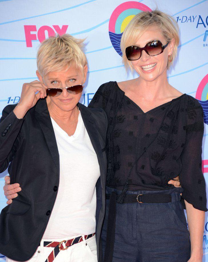 Ellen Degeneres And Portia De Rossi S Love Story In Their Own Words Ellen Degeneres And Portia Portia De Rossi Ellen And Portia