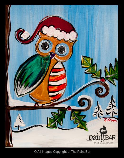 How Cute Is Our #Christmas #owl Painting!
