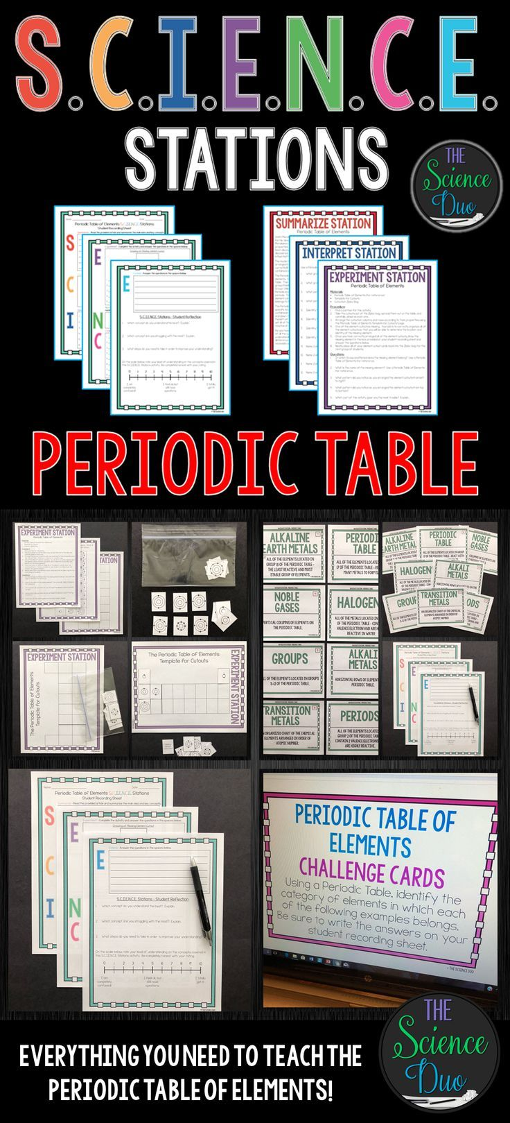 This periodic table of elements science station activity is this periodic table of elements science station activity is designed to get your students engaged urtaz Images