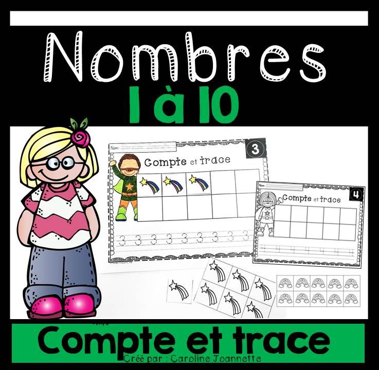 FRENCH Count and Trace Numbers 1-10 / Compte et trace - Nombres 1-10 ...