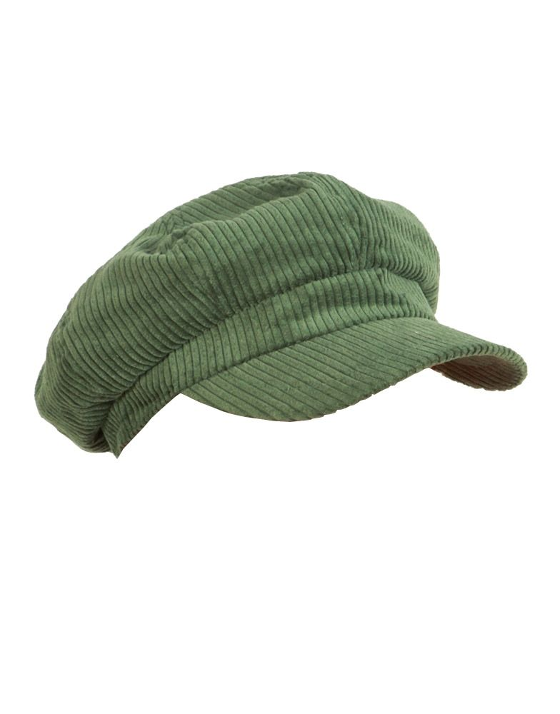 Green Ribbed Velvet Baker Boy Hat  ChiaraFashion Cheap Designer Clothes 47c7eeb95ed