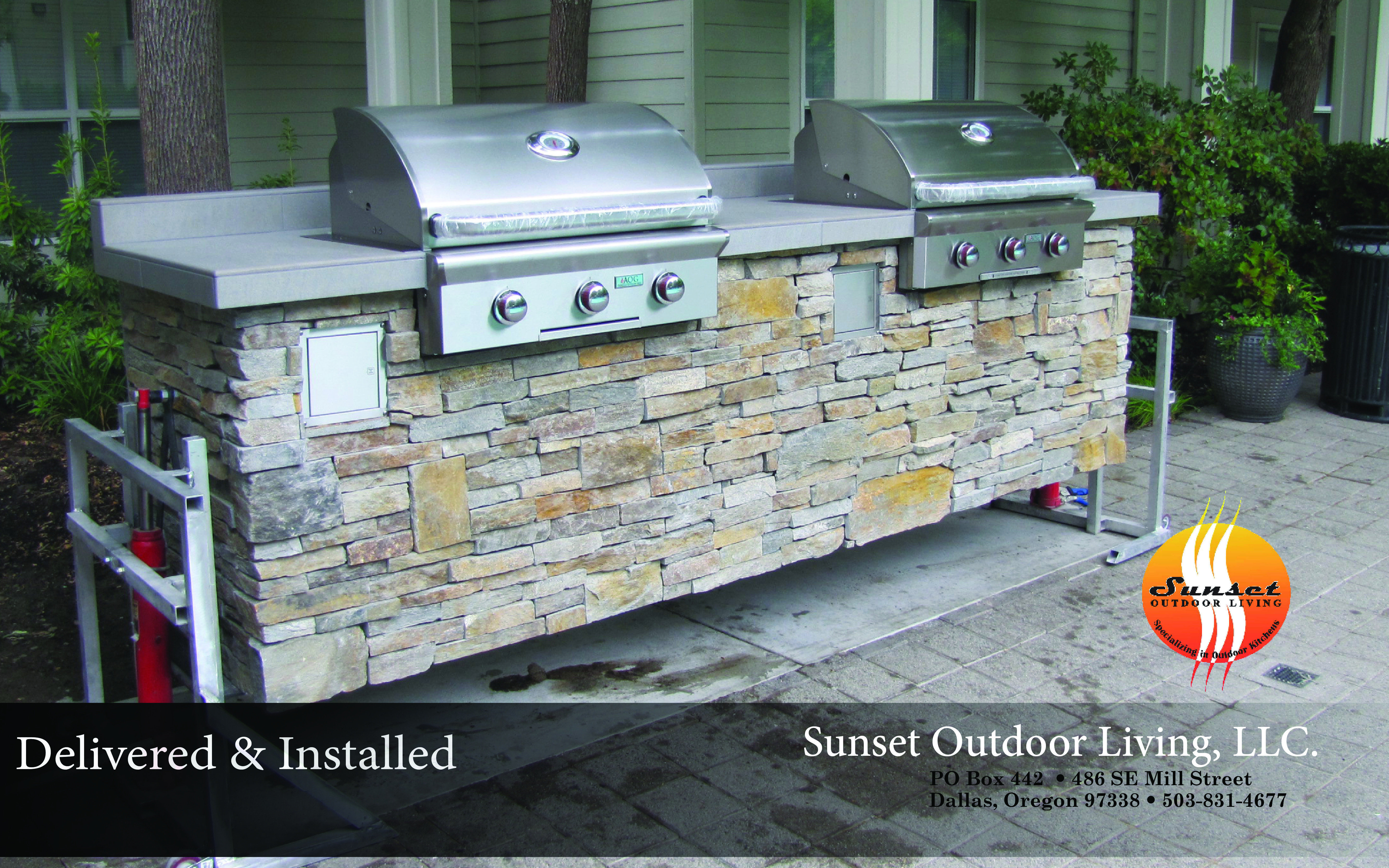 Sunset Outdoor Living Llc Custom Outdoor Kitchens And Fire Features Installation Installed Business Home L Outdoor Entertaining Outdoor Living Outdoor