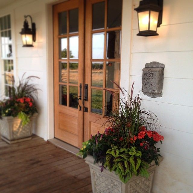 Double Front Door Ideas: Porch Doors From Living Room To Porch If We Remove The