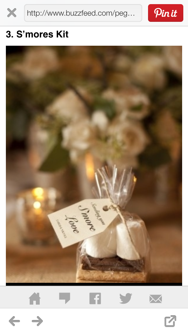 Smore Love Making Dreams A Reality Pinterest Wedding Favors