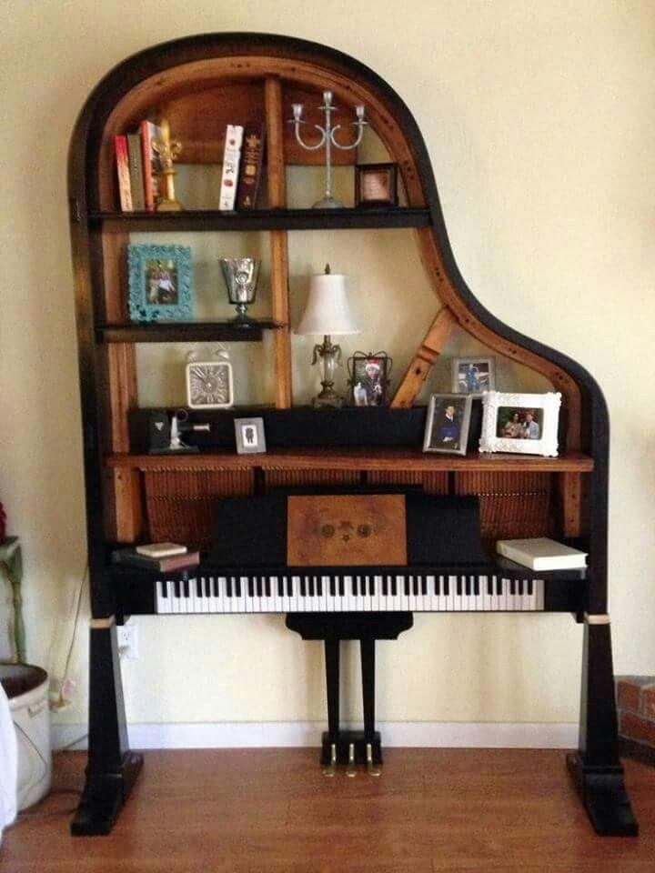Piano Shelf Re Purposed Old Pianos Baby Grand Pianos