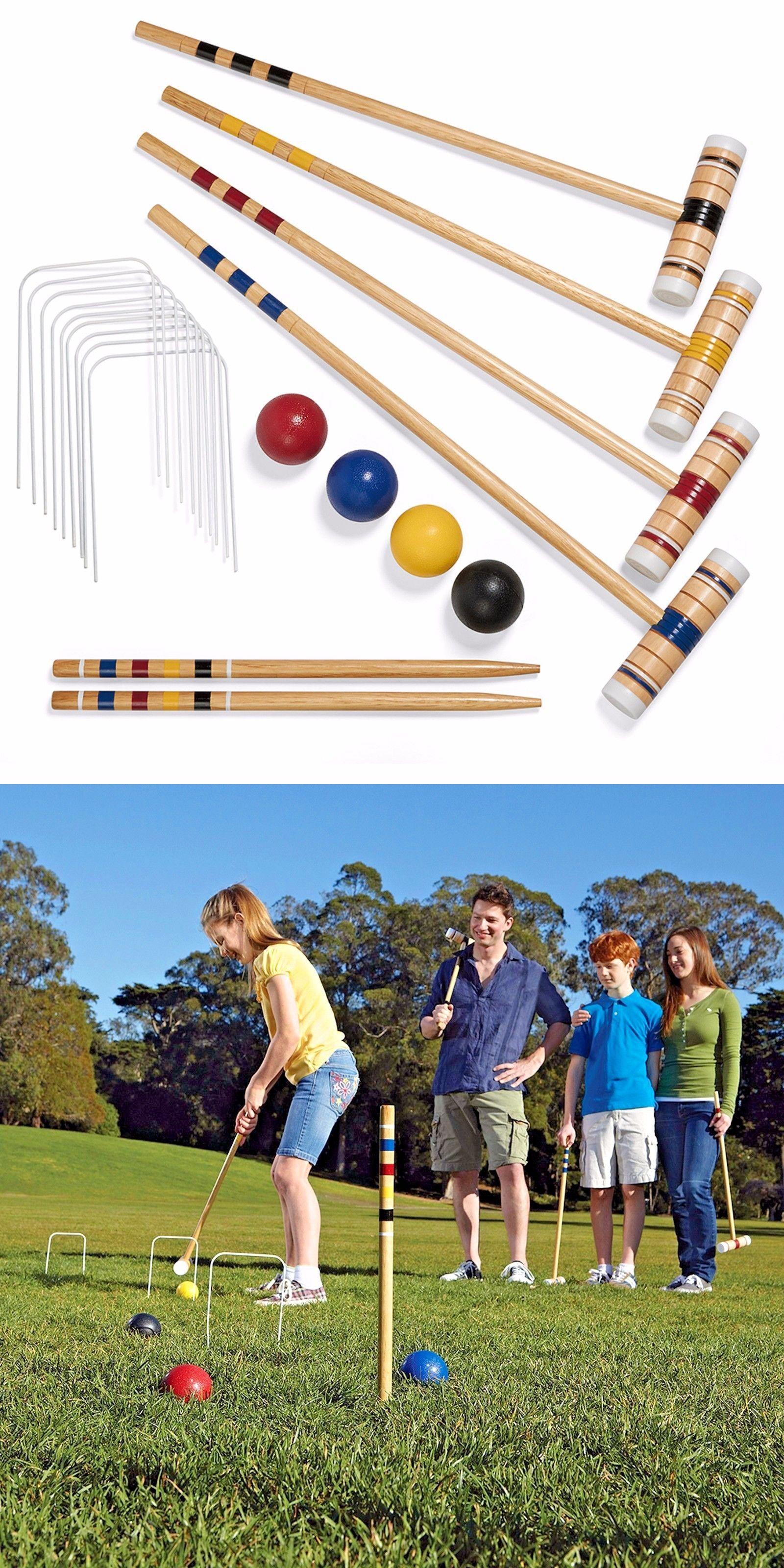 croquet 117210 ozark trail croquet set 4 person wood picnics