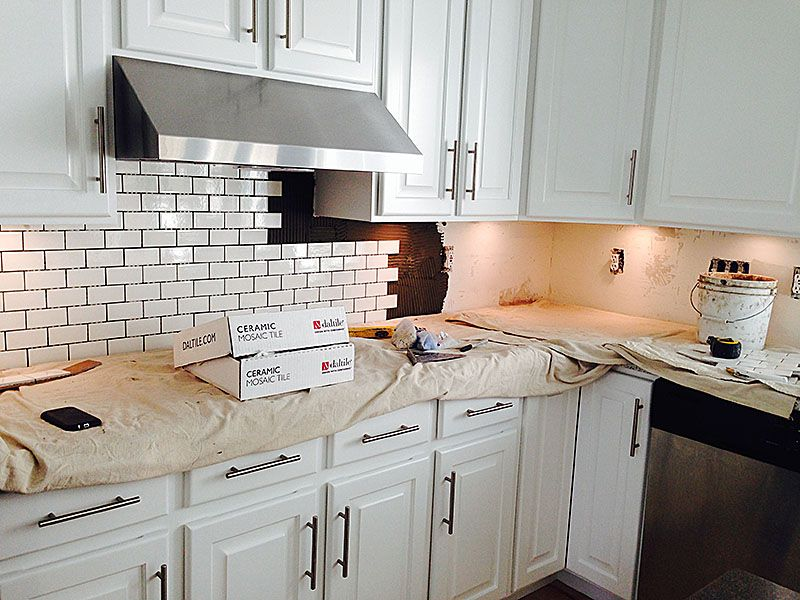 Subway Tile Kitchen Backsplash How To Home Depot Daltile Brand
