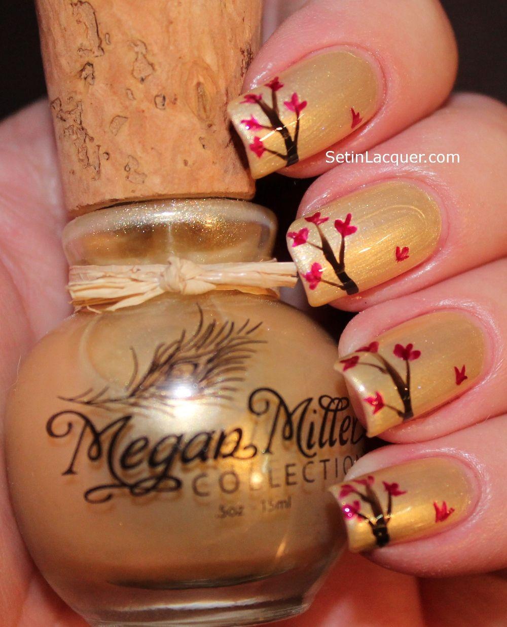 Falling Leaves nail art using Megan Miller nail polish | Say it with ...