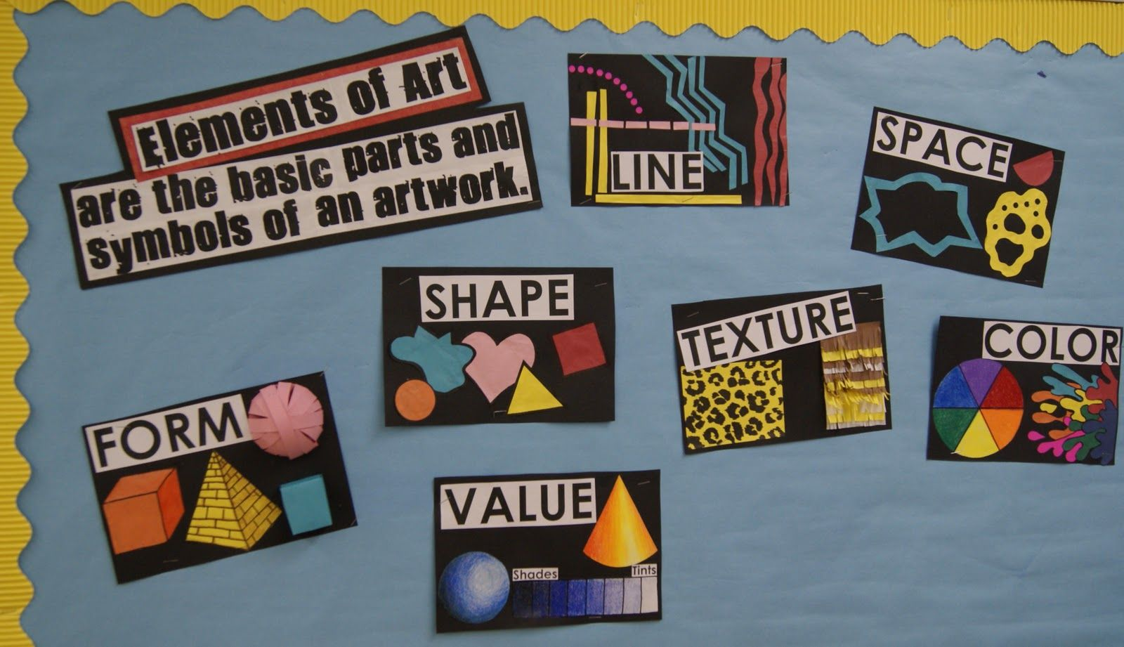 Elements Of Art Bulletin Board Idea