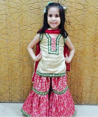 f7587eaed Image result for baby girl gharara | baby's frock in 2019 ...