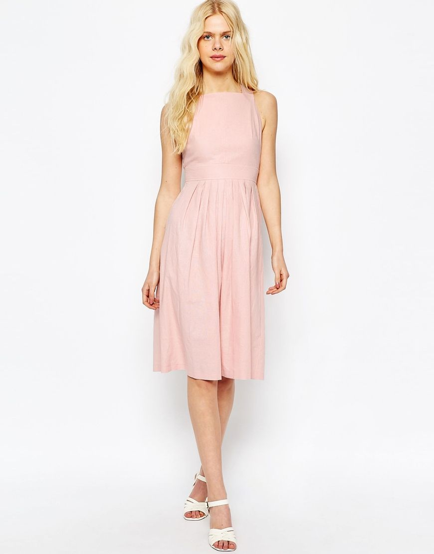 ASOS+Occasion+Midi+Dress+in+Linen   wedding bridesmaid ideas ...