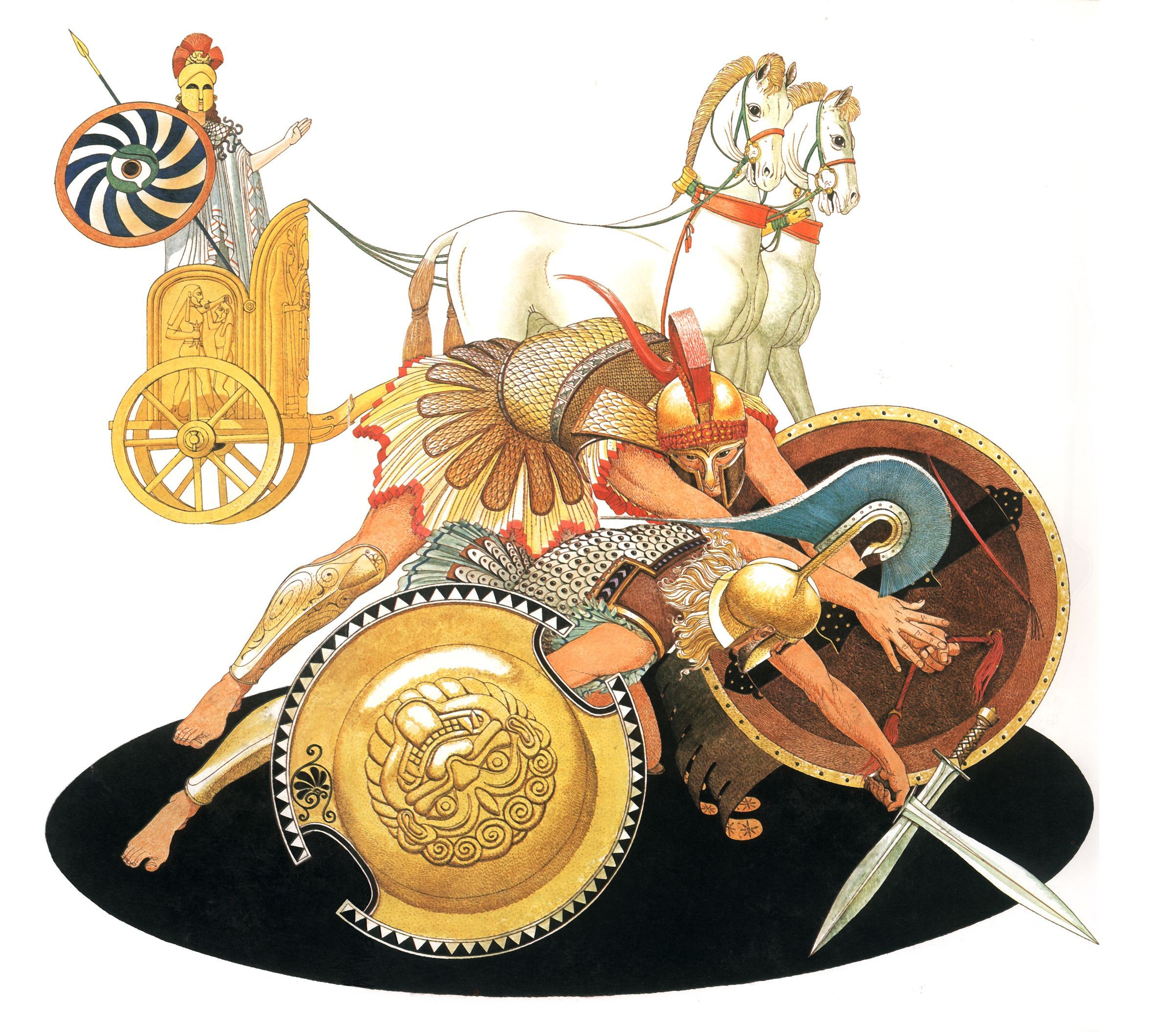 Athena and Diomedes in the Iliad vs. Ares