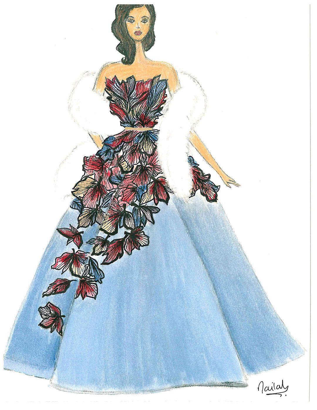 Illustration Of An Original Garment Design