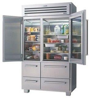 Sub Zero Pro 48 Contemporary Refrigerators And Freezers St Louis By Sub Zero Wolf Applianc Glass Door Refrigerator Subzero Refrigerator Kitchen Storage