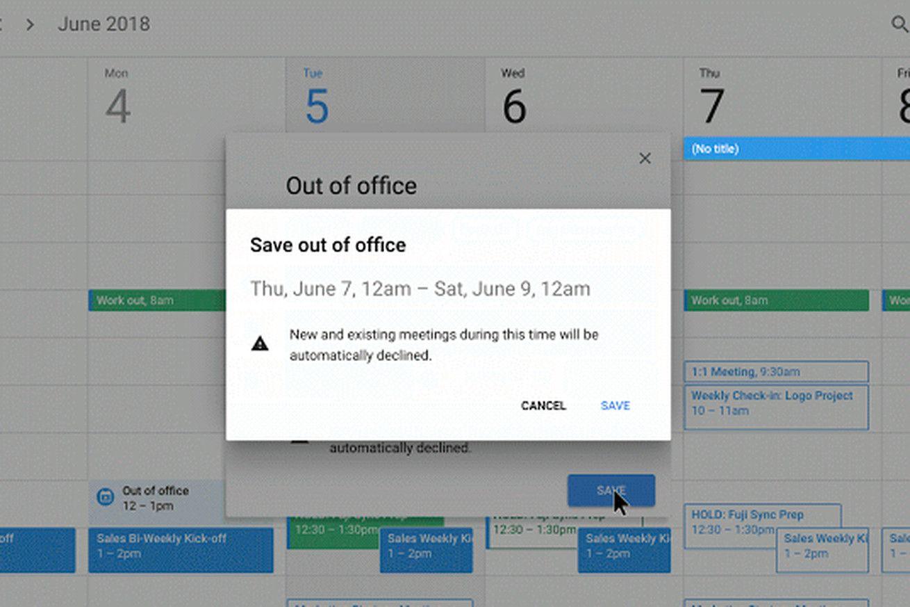 Google Calendar Now Has An Out Of Office Option Google
