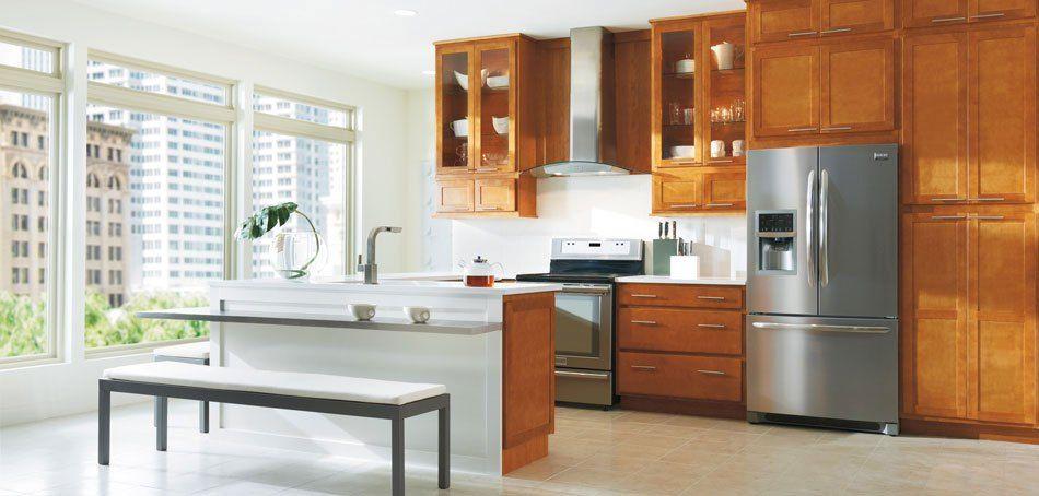 affordable kitchen bathroom cabinets aristokraft birch ...