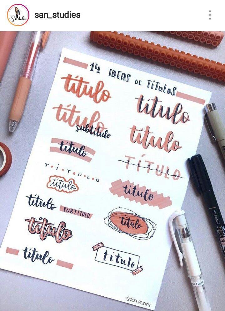 Titulos Decoración De Cuadernos Bullet Journal Font Bullet