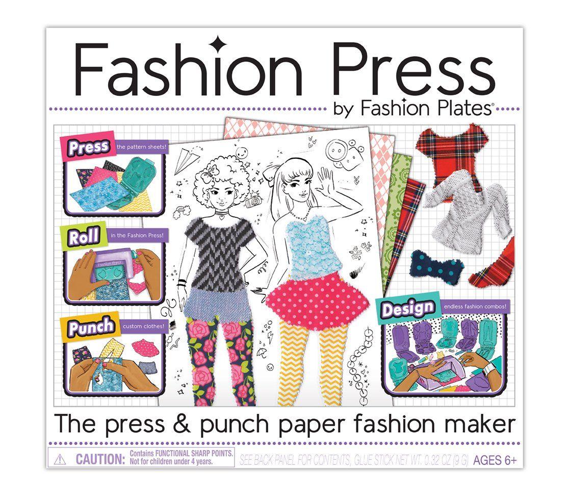 Kahootz Fashion Press Paper Fashion Maker Deluxe Activity