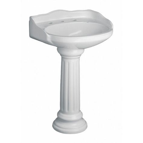Pegasus Vicki 22 In Pedestal Combo Bathroom Sink In White 3 654wh Pedestal Sink Sink Wall Mounted Bathroom Sinks