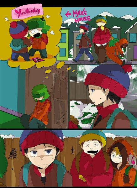 South Park Anime Manga Style Fan Art From Japan South Park Anime South Park Style South Park