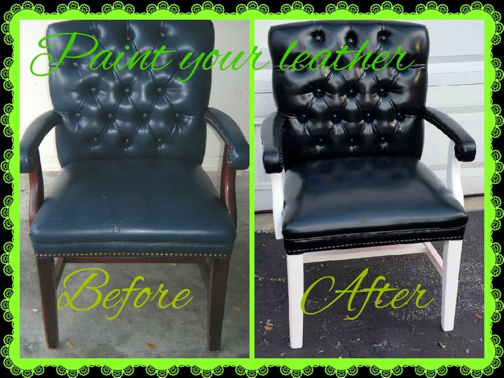 how to spray paint a leather chair and make disappear crack projects to try painting leather. Black Bedroom Furniture Sets. Home Design Ideas