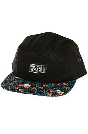 2d8355b48666d The Dolores Pattern Brim 5 Panel in Navy by Benny Gold