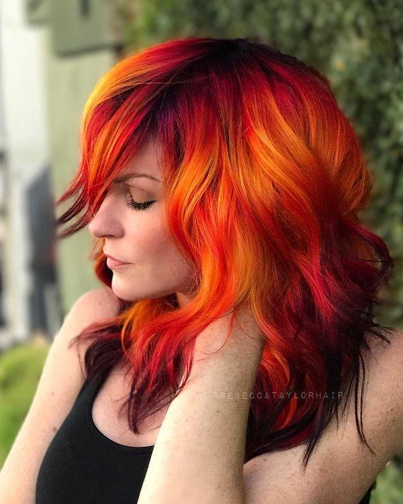 Beautiful Cascade Hairstyles Ideas Fire Hair Fire Hair Color Hair Styles