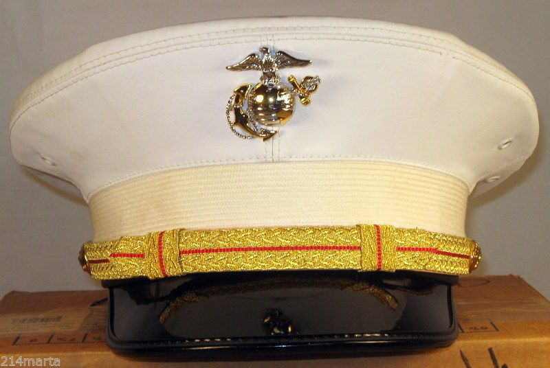 f696f54adf6 USMC US Marine Corps Male Officer Dress Blues   Alpha Hats Caps Covers +  Bonuses