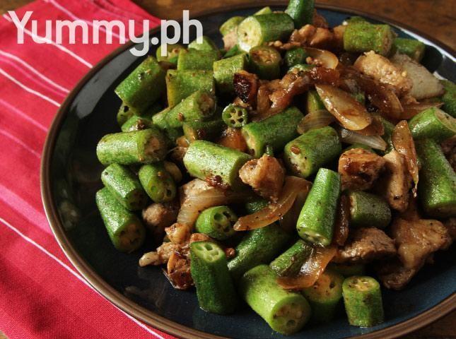 Ginisang Okra (Sauteed Okra with Pork) Recipe