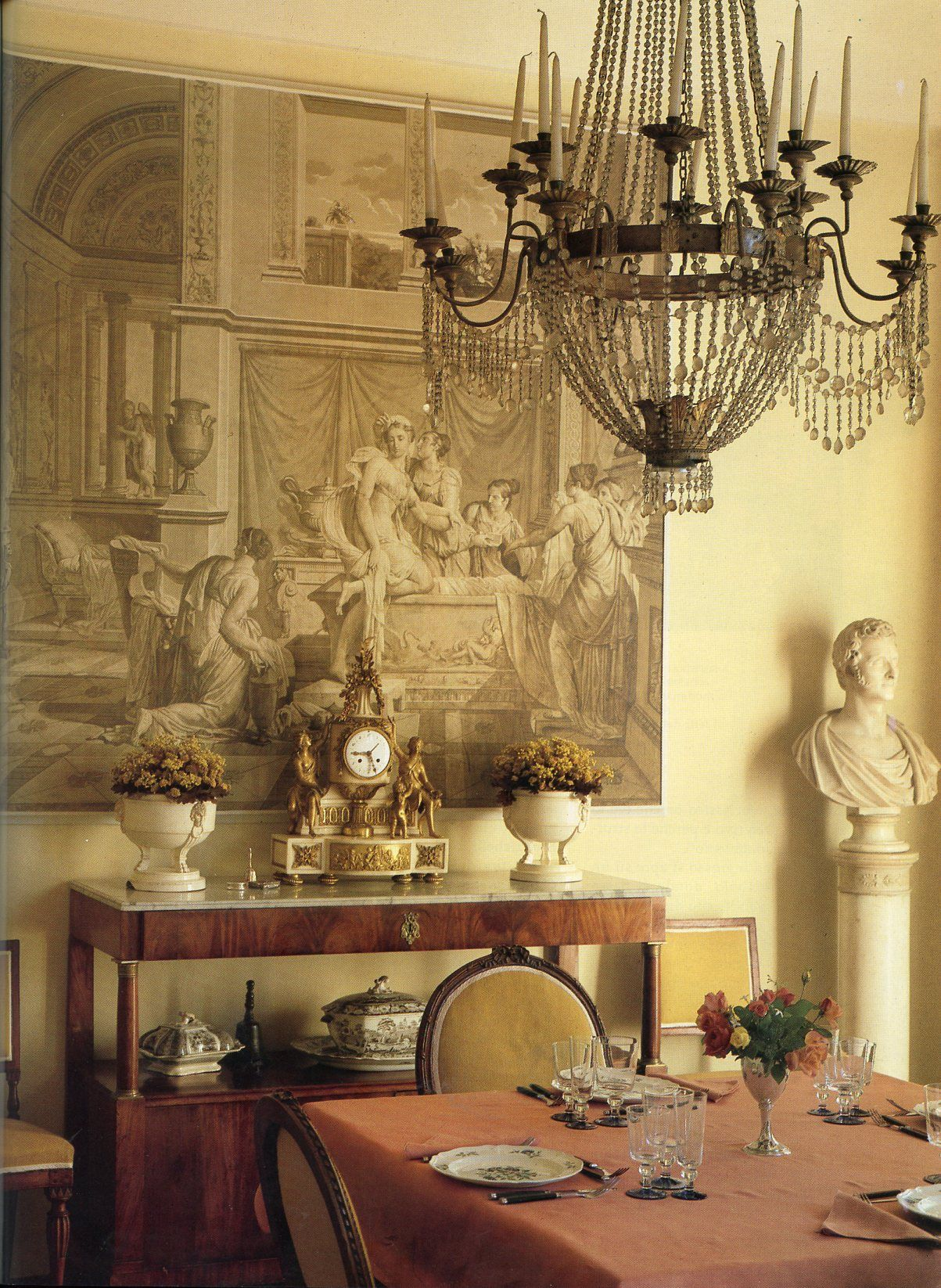 Elegant French Country Home Architecture Ideas Elegant: Classic Grisaille - Robert Hadley : Photo