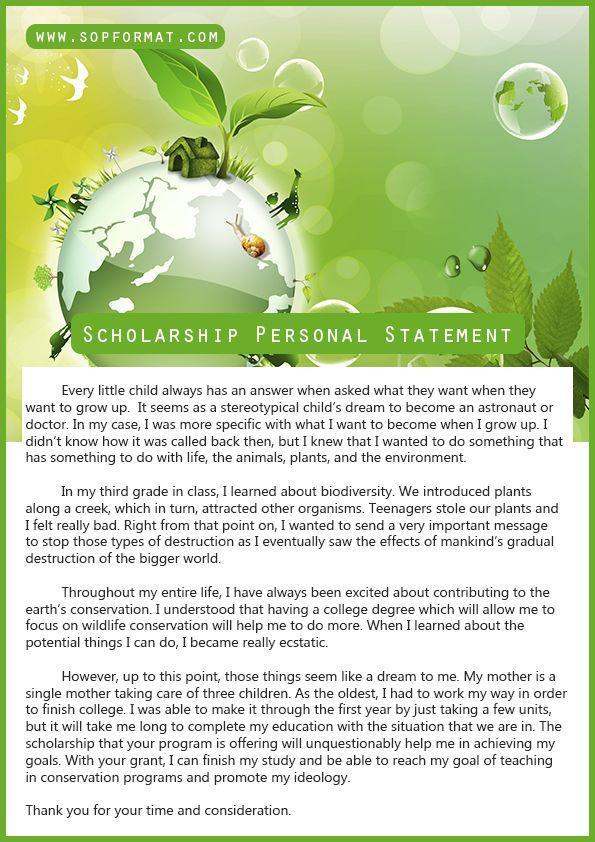 Scholarship personal statement