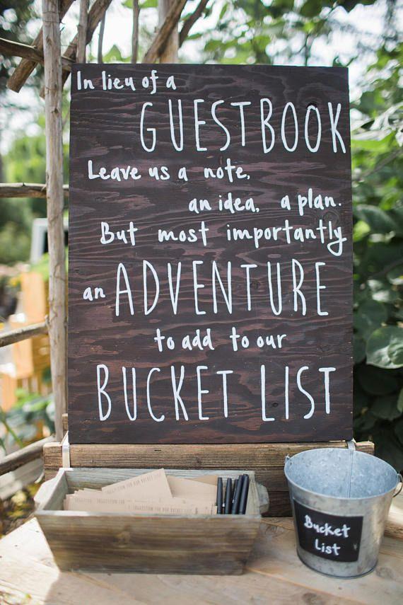 bucket list wedding guest book 9 3 16 in 2018 pinterest