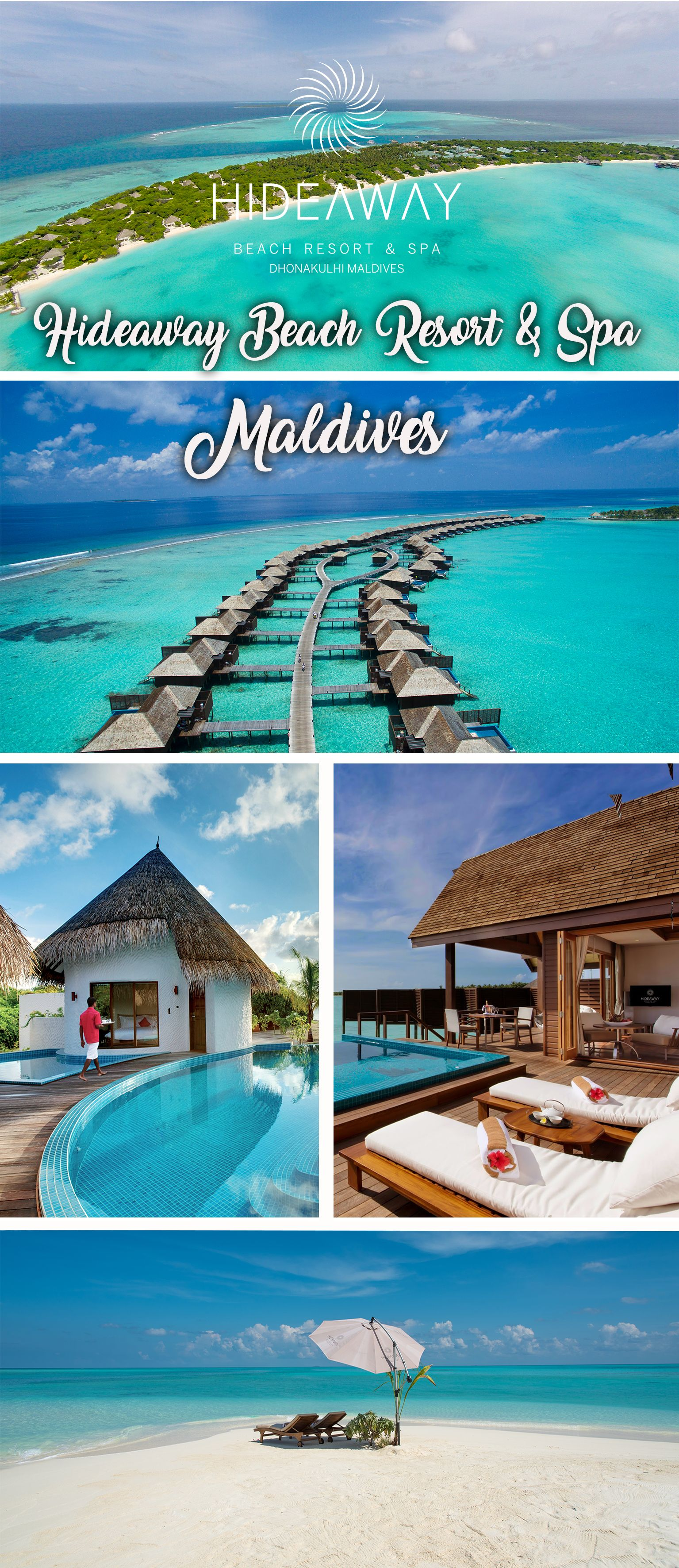 Our 103 suites are set on the beach amongst coconut groves and lush vegetation or on stilts over our beautiful lagoon, and offer world-class facilities and uncompromised privacy. At Hideaway Beach Resort Maldives each villa has their own island host (butler) to take care of all needs.