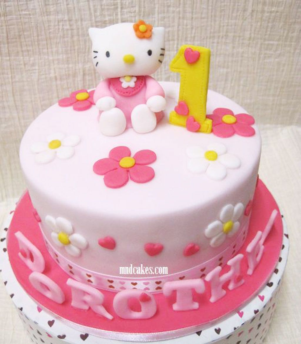 Hello Kitty 1st Birthday Cake Designg 10241172 Hello Kitty