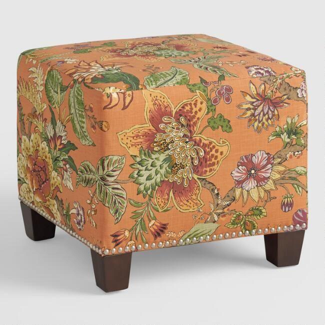 Garrison McKenzie Upholstered Ottoman - v1 | Home Goods | Pinterest