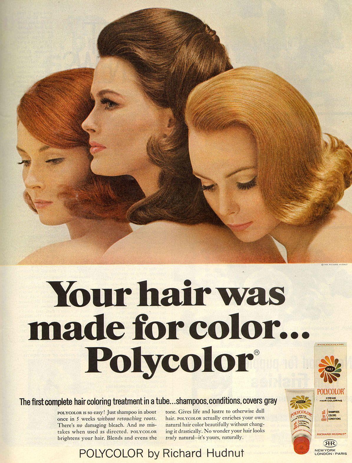 Richard Hudnut 1966 Beauty Ad Richard Hudnut Hair Color