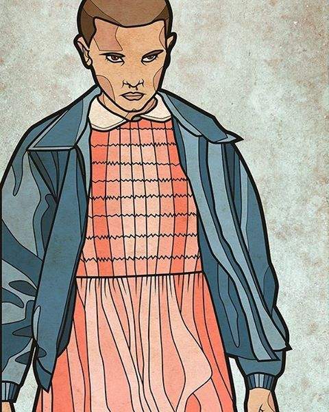 """I FINALLY managed to do some artwork for the best tv show on Netflix! Watch """"stranger things"""" guys!! #strangerthings #netflix #fanart #eleven #alexandrahelm (hier: Offenbach, Frankfurt a.M.)"""