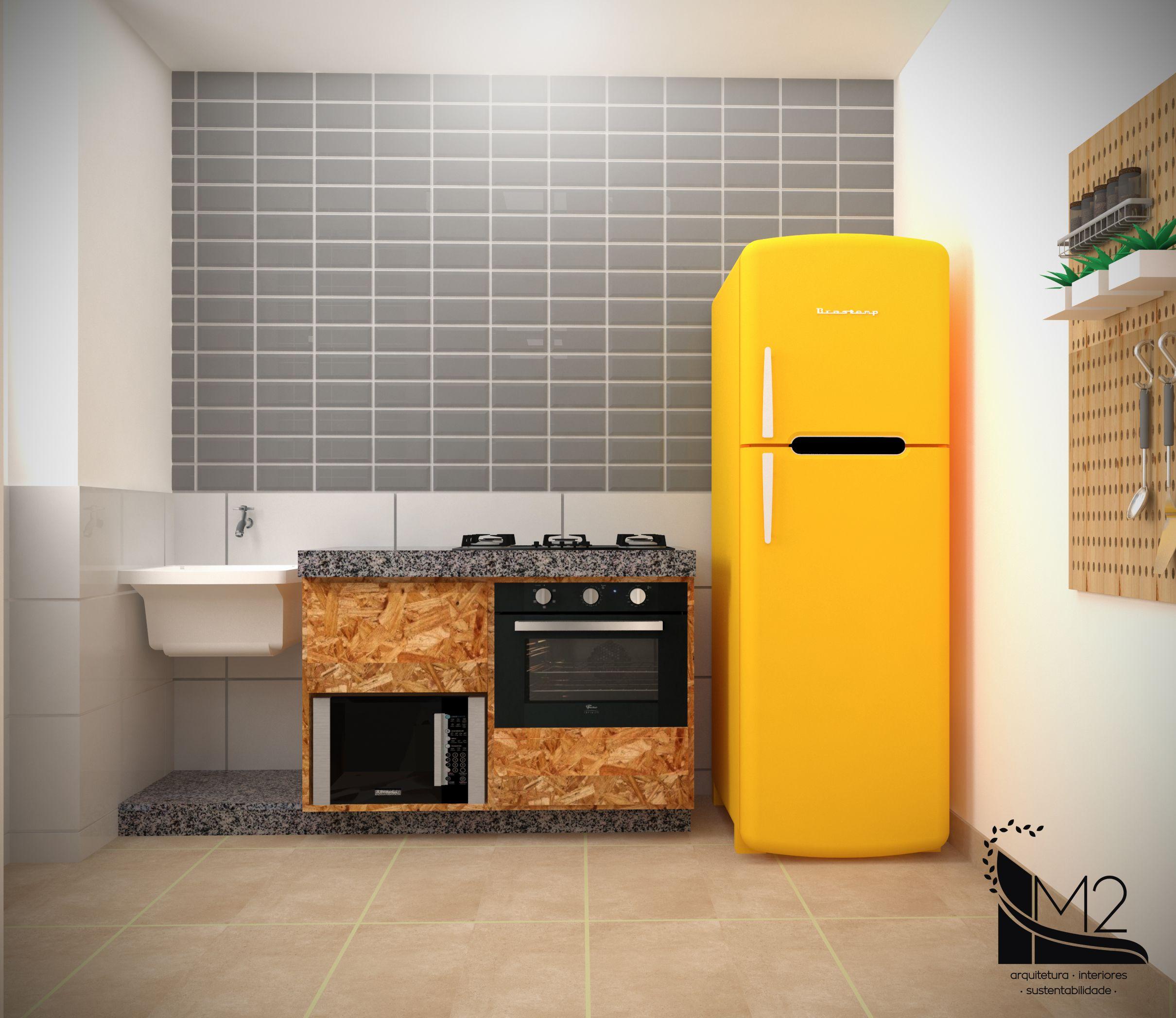 Pequena Cozinha Integrada Rea De Servi O Revestida Em Meia