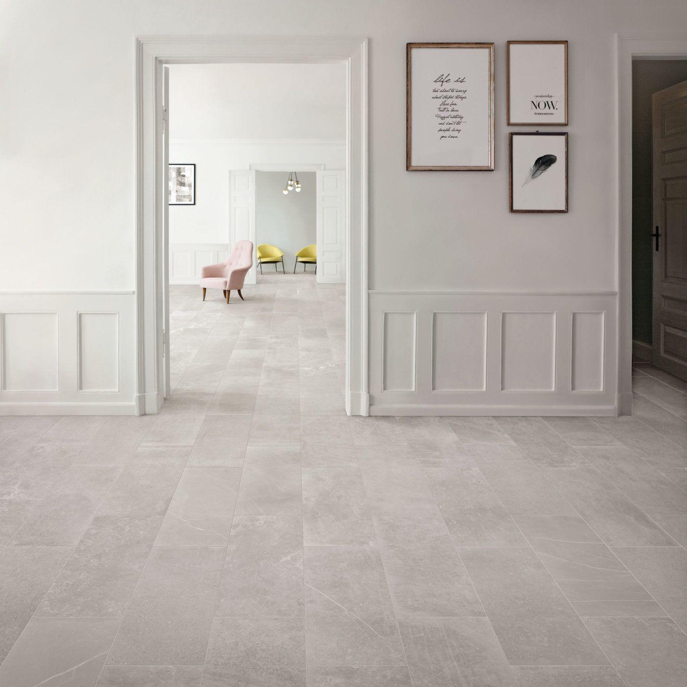 Fusion Light Grey Matt Porcelain Inspiration Flooring In