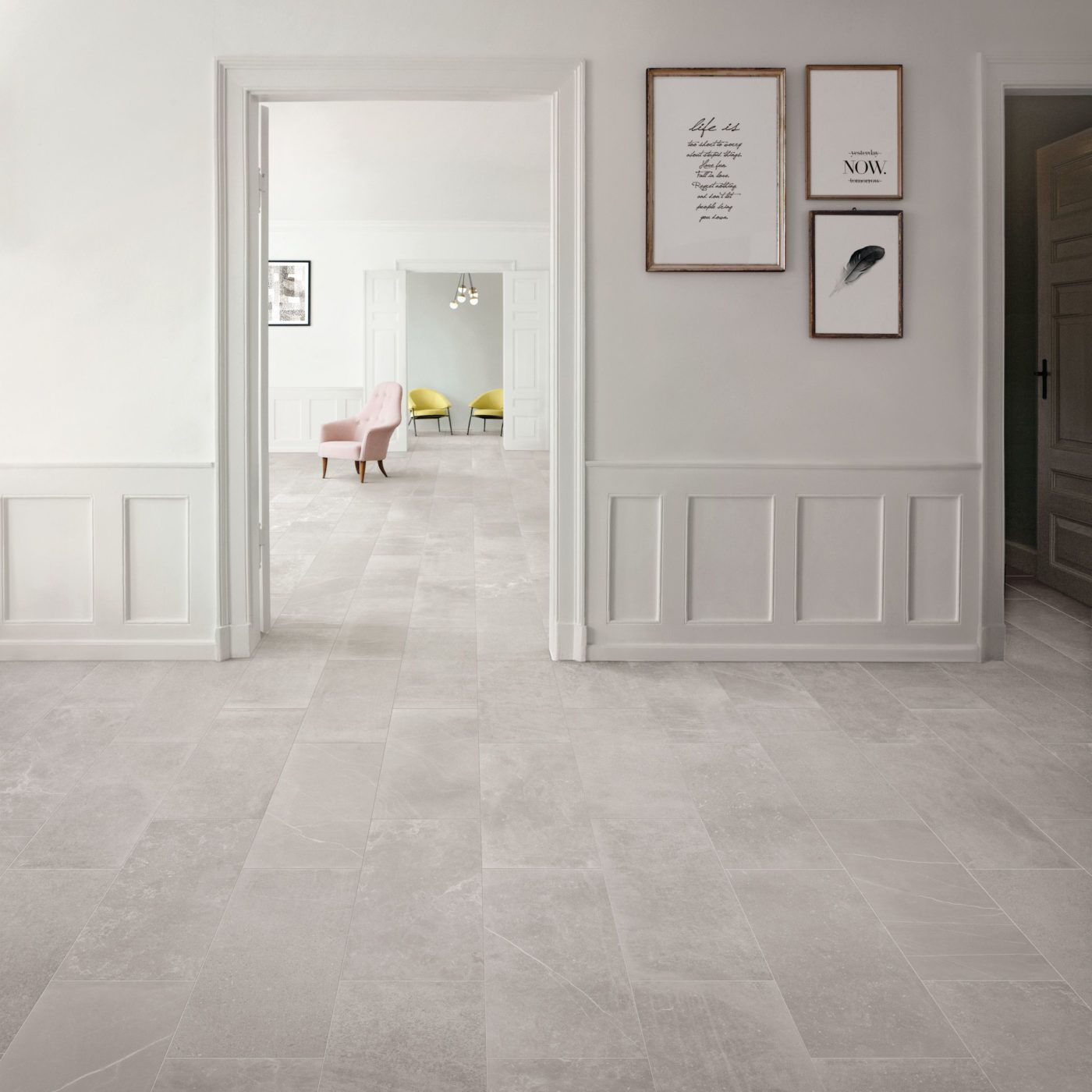 Best Fusion Light Grey Matt Porcelain Tiles Grey Tiles Living 400 x 300