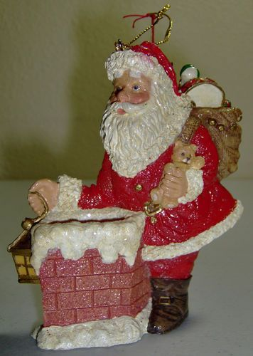 This lovely ornament was handcrafted for Silvestri.  A large ornament that will show up well on your Christmas tree.
