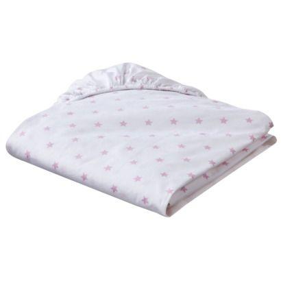 Circo Organic Fitted Crib Sheet Stars Grey Start