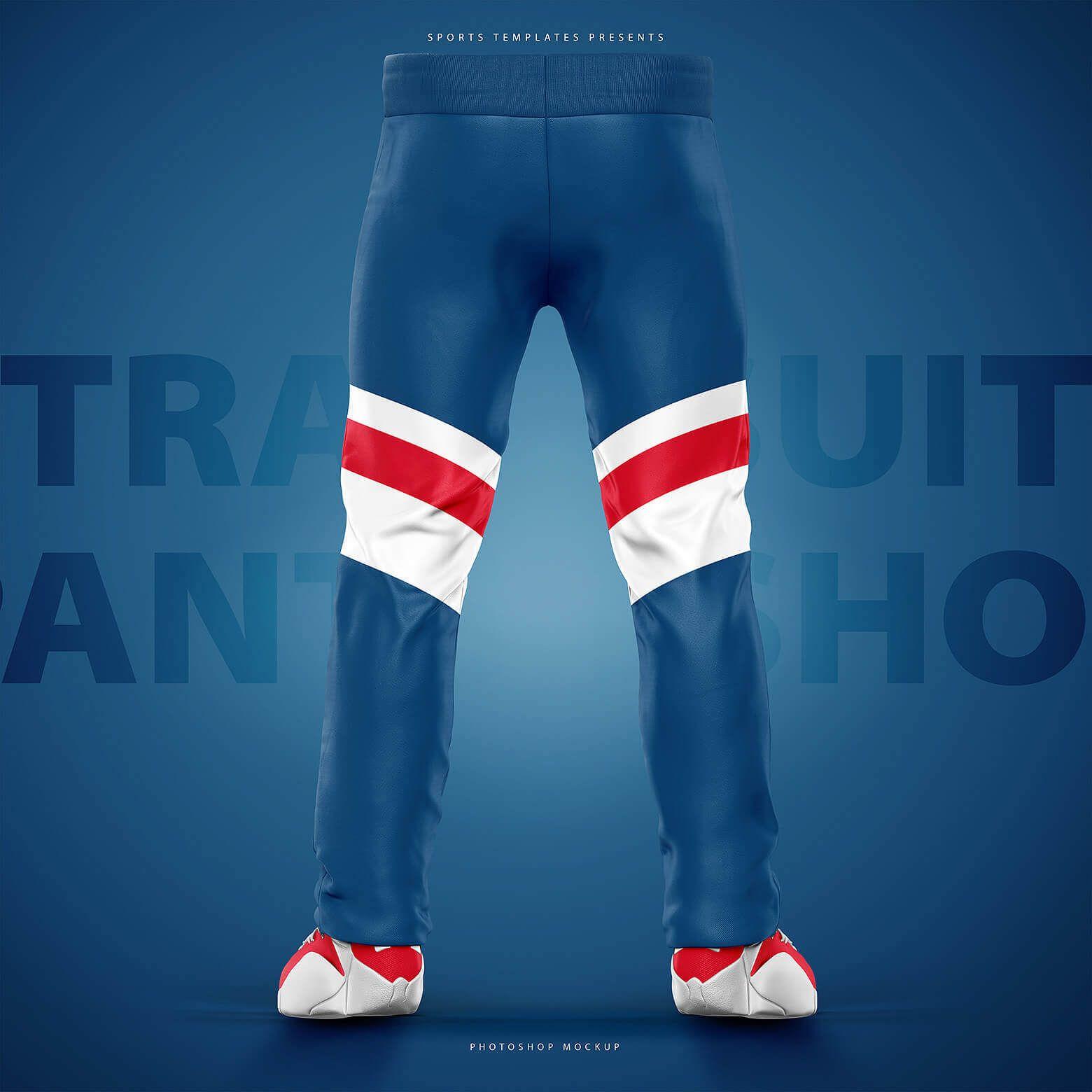 Download Sports Tracksuit Jacket Pants Mockup Sports Templates Tracksuit Jacket Tracksuit Pants