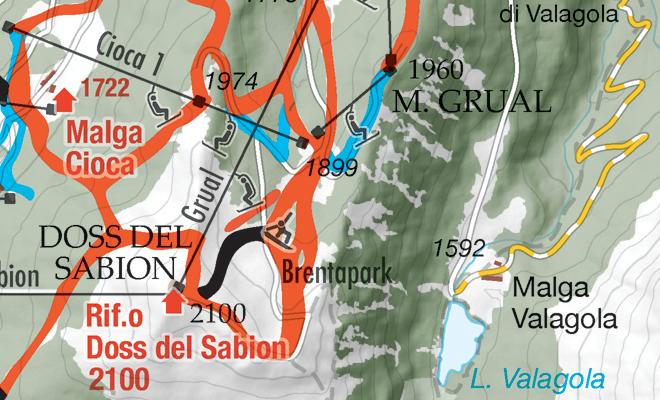 Mappa piste sci Madonna di Campiglio FolgaridaMarilleva Pinzolo