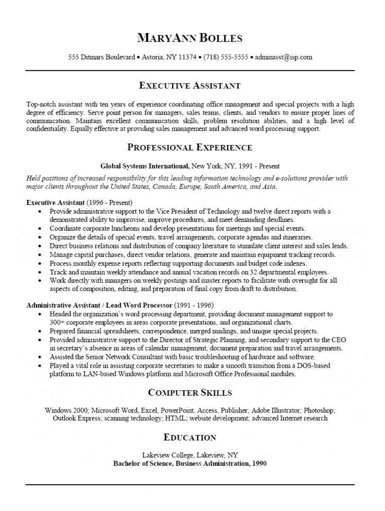 resume formatting ideas mistakes faq about administrative - Administrative Professional Resume
